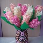 Làm hoa giấy đẹp mặt với giấy nhún