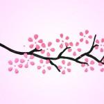 Cách làm thiệp đẹp hoa đào đẹp
