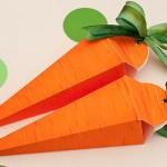 Làm hộp quà xinh hình củ cà rốt