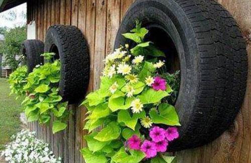 Tự trang trí nhà từ lốp xe cũ