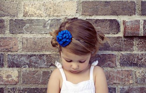 Tự làm bờm tóc hình hoa