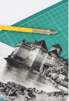 Tự trang trí nhà với nến và giấy báo cũ