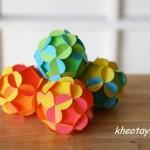Cách làm quả cầu bằng giấy
