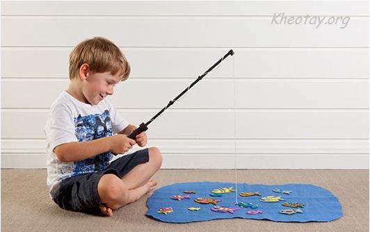 Tự làm bộ đồ chơi câu cá