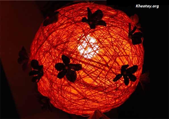 Tự làm đèn ngủ đẹp từ len