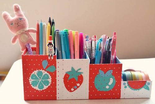 Tự làm hộp cắm bút dễ thương