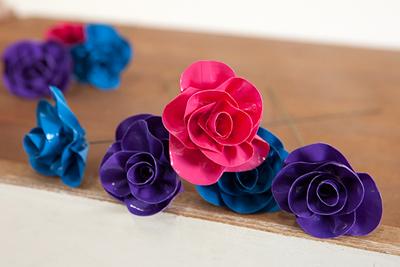 cách làm hoa giả đẹp từ băng dính