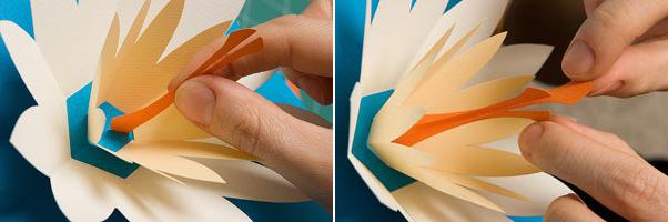 cách làm thiệp 3D độc đáo hình hoa sen