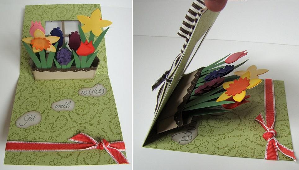 cách làm thiệp nổi hình hoa