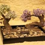 Trang trí nhà sáng tạo với cây bonsa từ bìa các tôngi