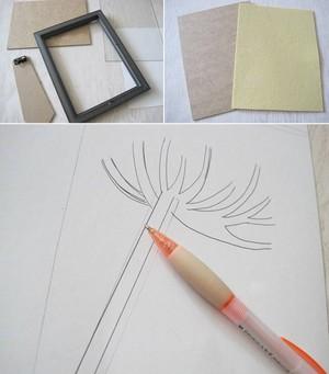 Tự làm tranh treo tường đơn giản