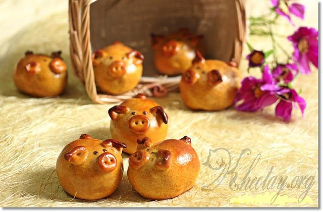 Cách làm bánh trung thu hình con lợn