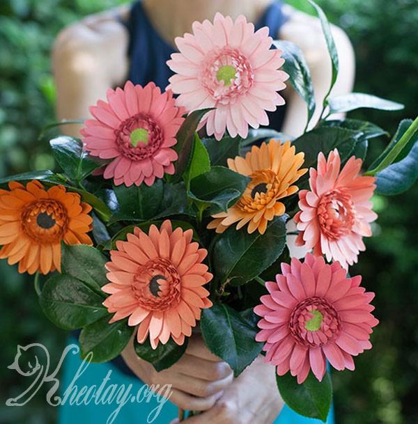 cách làm hoa giả bằng giấy đẹp