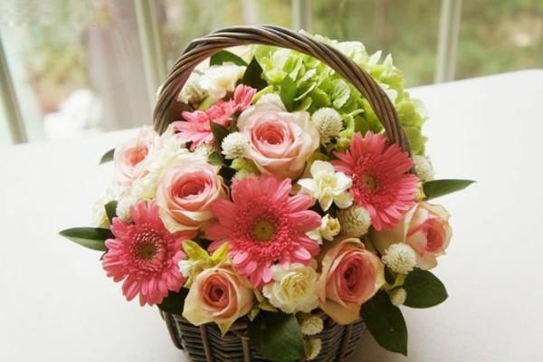 Cách làm lẵng hoa đơn giản