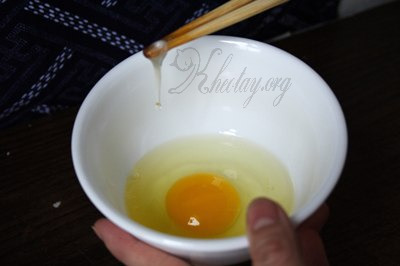 Cách trang trí món cơm trứng đẹp mắt