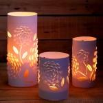 Tự làm đèn trang trí bằng giấy đơn giản