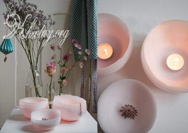 Tự làm đèn trang trí độc đáo bằng sáp nến