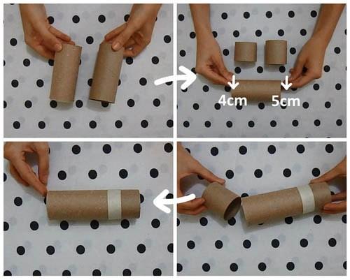 tự làm đồ chơi độc đáo từ lõi giấy vệ sinh