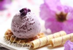 Cách làm kem khoai lang tím ngon