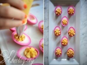 Cách làm trứng màu tím đẹp
