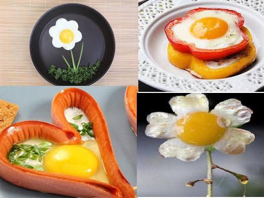 Cách rán trứng đẹp mắt