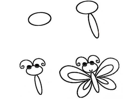 Cách vẽ con bướm đơn giản