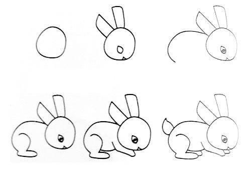 Cách vẽ con thỏ đơn giản