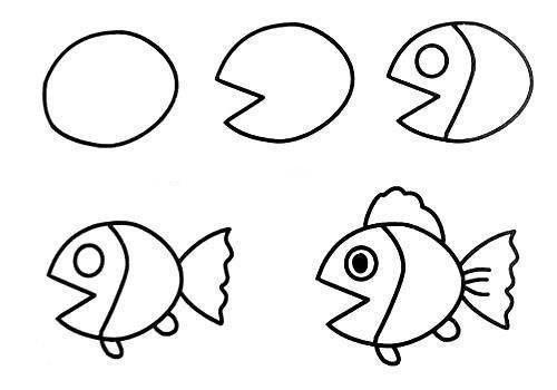 Cách vẽ con cá đơn giản