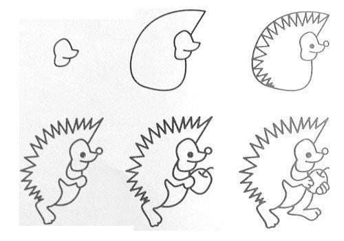 Cách vẽ con nhím đơn giản
