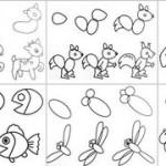 cách vẽ con vật đơn giản