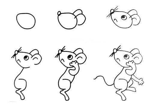 Cách vẽ con chuột đơn giản