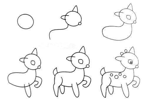 Cách vẽ con hươu đơn giản