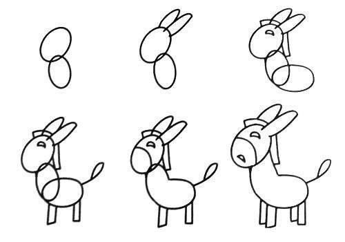 Cách vẽ con lừa đơn giản