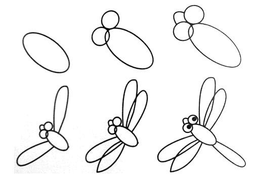Cách vẽ con chuồn chuồn đơn giản