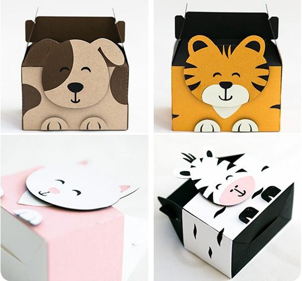 Tự làm hộp quà dễ thương hình con thú
