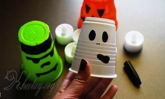 Tự làm đèn Halloween đơn giản