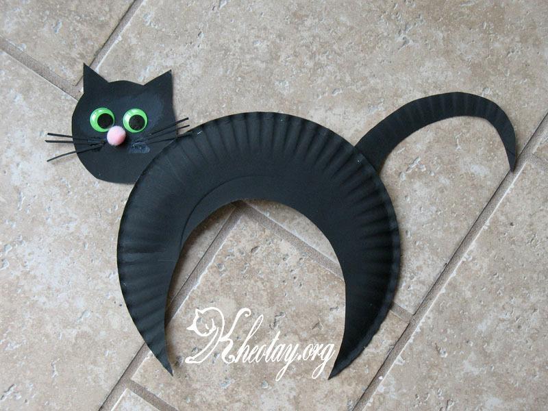 Cách làm đồ chơi sáng tạo hình mèo mun