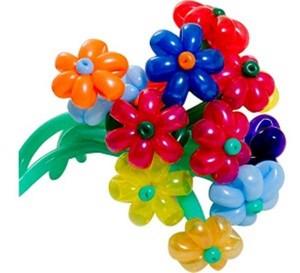 cách làm hình bông hoa bằng bong bóng
