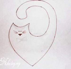 Cách làm thú bông dễ thương hình mèo khóa đuôi