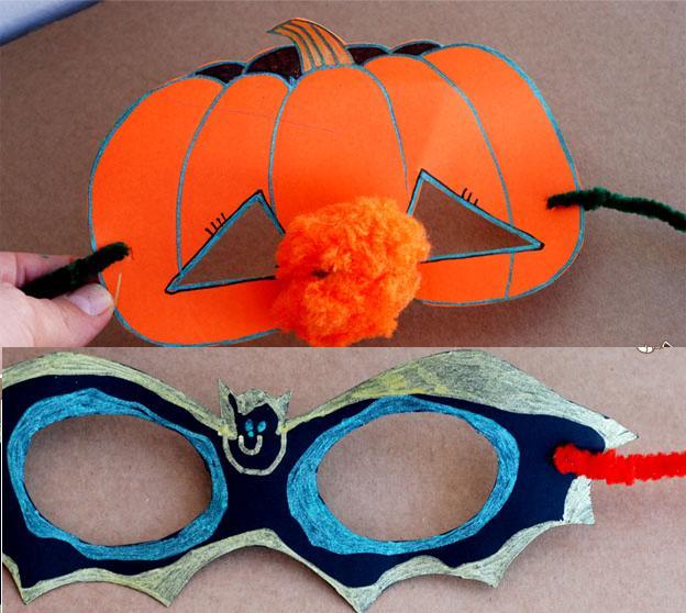 hướng dẫn làm mặt nạ Halloween đơn giản