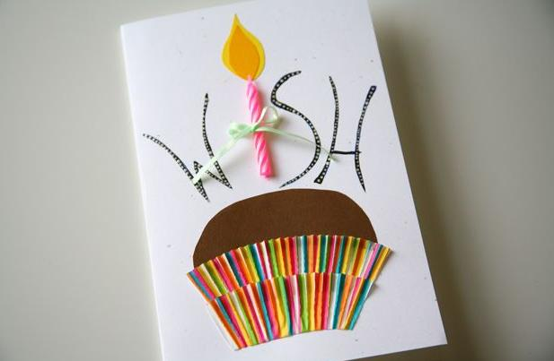 Tự làm thiệp sinh nhật đơn giản