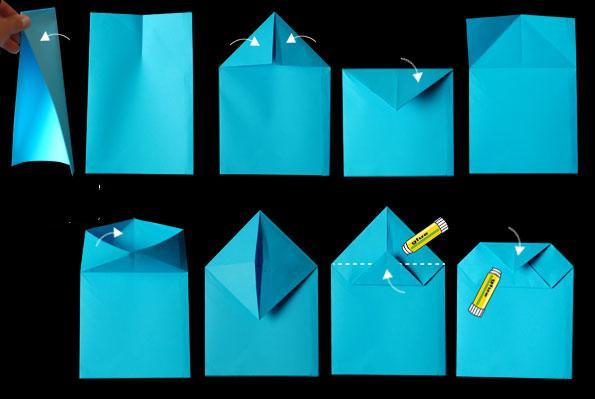 Cách làm túi giấy đẹp hình chiếc balo xinh