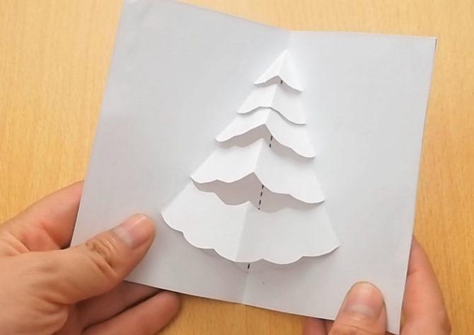 Hướng dẫn làm thiệp nổi đơn giản hình cây thông