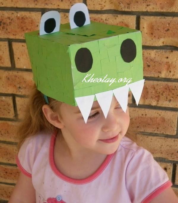 Hướng dẫn cách làm mũ giấy hình con thú ngộ nghĩnh cho bé
