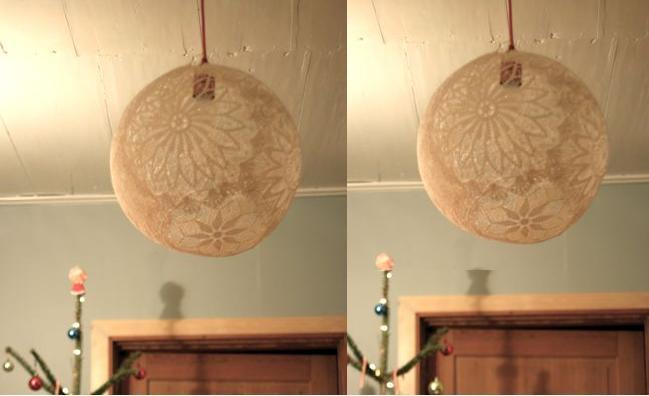 tự làm đèn trang trí nhà