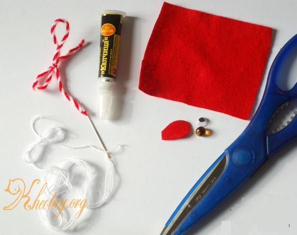 Cách làm con chuột bằng vải nỉ