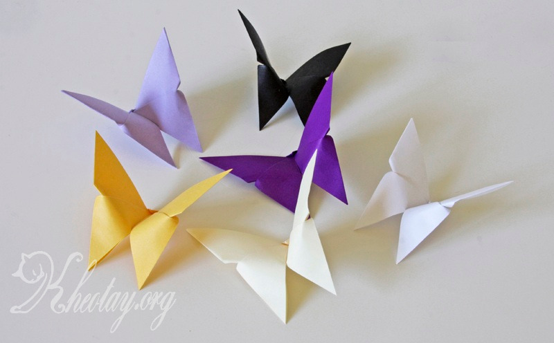 Поделка из бумаги бабочка оригами