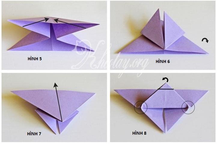 Hướng dẫn gấp con bướm bằng giấy