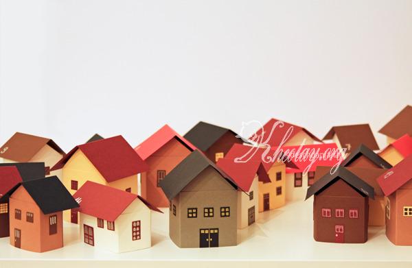 Hướng dẫn làm ngôi nhà bằng giấy đẹp
