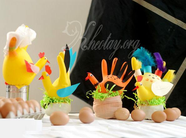 Tự làm đồ chơi sáng tạo hình con gà